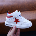 Kids Sports Shoes Boys Girls Skateboarding Shoes Sneakers High Basketball Shoe Little White Shoes Star Children Spring Autumn