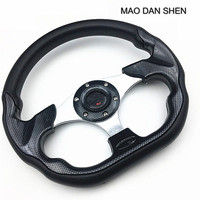 2018 Hot Automobile Styling Steering Wheel 13 Inch Racing Volante Universal Red Silver Black Yellow Carbon