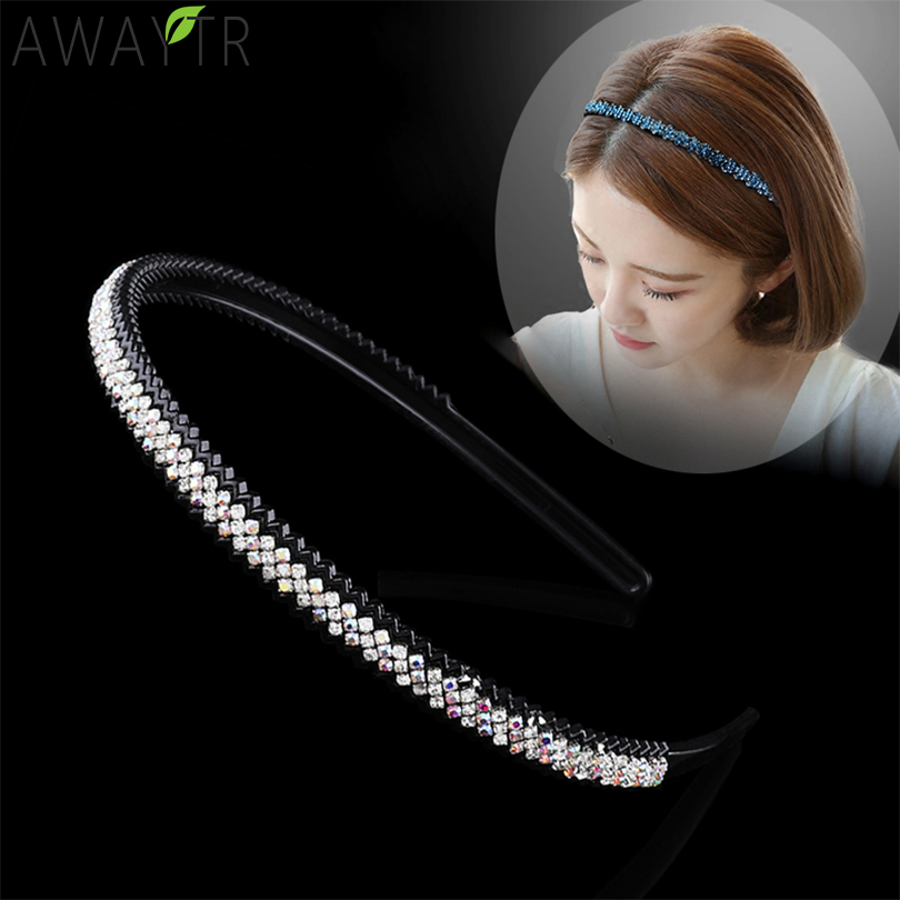 Women's Multicolor Crystal Stitching Hair Hoop Headband Fashion Hairbands For Hair Women Fixed Bezel Headwear Hair Accessories