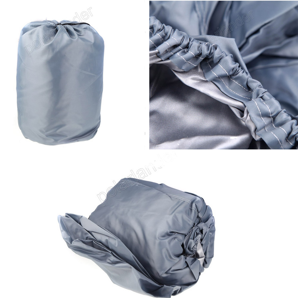 HOT SELL Waterproof 210D Boat Cover Protected Newly 17-19ft Beam GREY Trailerable Cover Speedboat