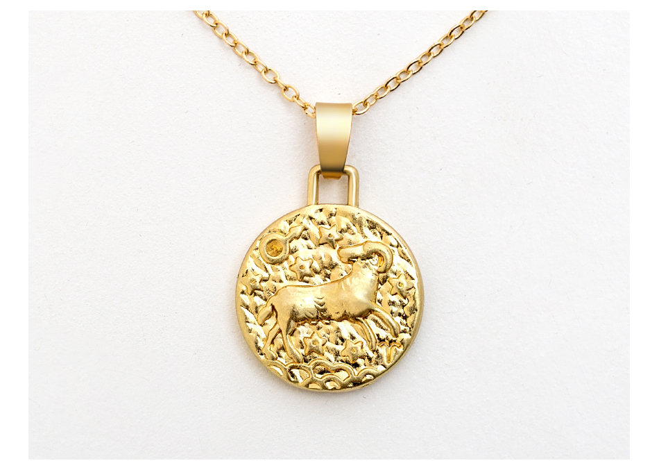 12 Constellation Jewelry Necklace Gold Virgo Libra Scorpio Sagittarius Capricorn Aquarius Zodiac Necklace Circle Pendant bijoux 10