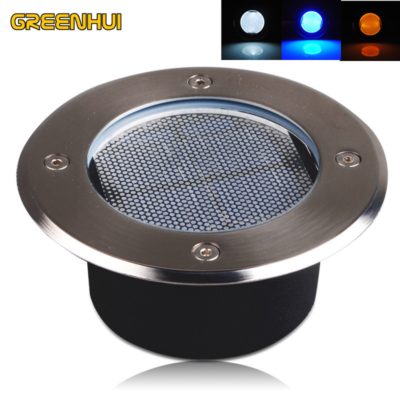 high quality IP65 Stainless Steel Ground Buried solar deck Light Solar Led Buried Lamp For PathWay