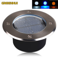 high quality IP65 Stainless Steel Ground Buried solar deck Light Solar Led Buried Lamp For PathWay Garden UnderGround Deck Lamp