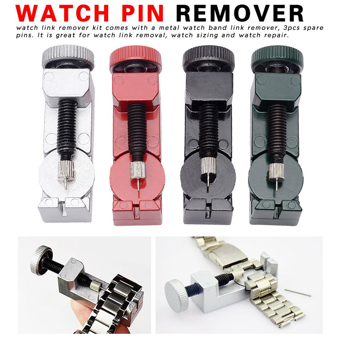 Metal Strapper Watch Tools Metal Watch Band & Bracelet Link Remover + Spring Bar Repair Tool W/ Extra Pins Saat Tamir Aletleri