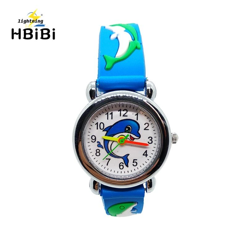 New Listing 3D Animal Giraffe Silicon Children Watch Duck Cartoon Whale Design Kids Sports Boys Girls Clock Quartz Wrist Watches