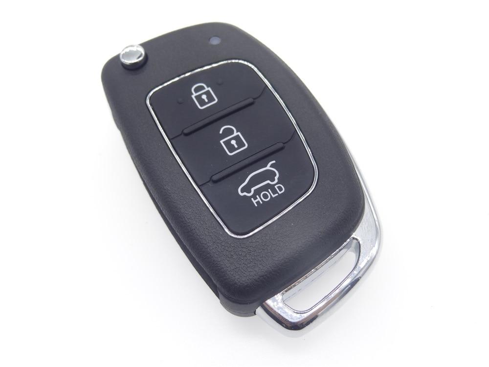 Prix pour Remplacement 3 Bouton Flip Clé Shell fit pour HYUNDAI ix45 Santa Fe À Distance Case Key blank Fob