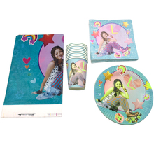 цена на 61PCS Happy Birthday Tablecloth Soy Luna Theme Party Plates Decorate Cups Girls Favors Baby Shower Napkins Events Tableware Set