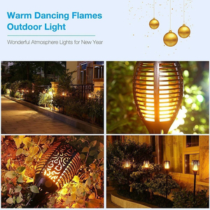 Image 4 - 4Pcs/lot Dancing Flame Light Solar Light Mpow IP65 Waterproof LED Solar Torch Light Outdoor Path Yard Decor Solar Garden Light