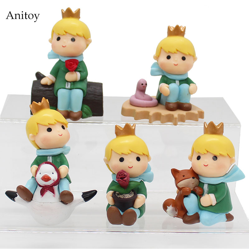 5pcs/set The Adventures of the Little Prince PVC Figure Collectible Toy 8cm KT4081 все цены