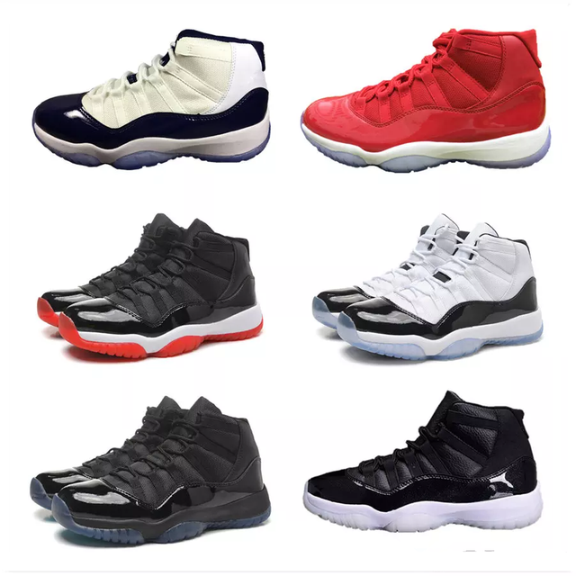 half off 05f80 8f2f7 US $58.88 |AJ 11 XI Men Basketball Shoes UNC Chicago red Space Jam 45 Bred  high Bred win like 82 96 Athletic Outdoor Sport Sneakers Jordan-in ...