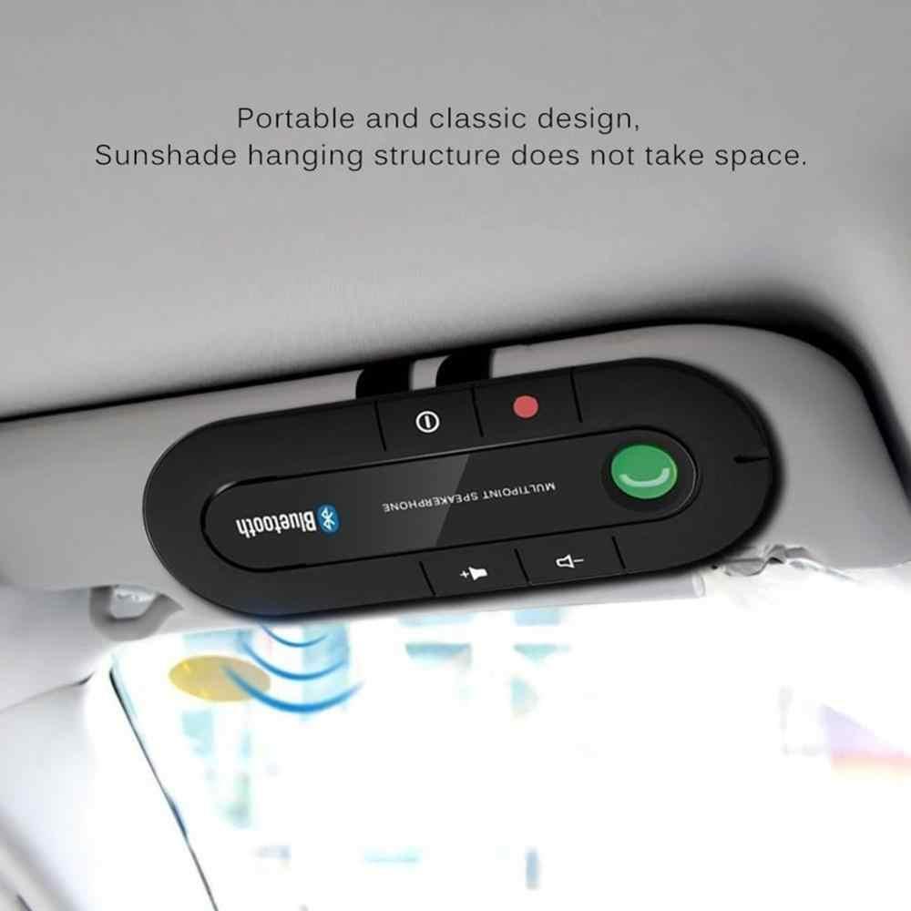 Bluetooth ハンズフリーカーキットワイヤレス Bluetooth スピーカー電話 MP3 音楽プレーヤー太陽バイザークリップスピーカー付車の充電器