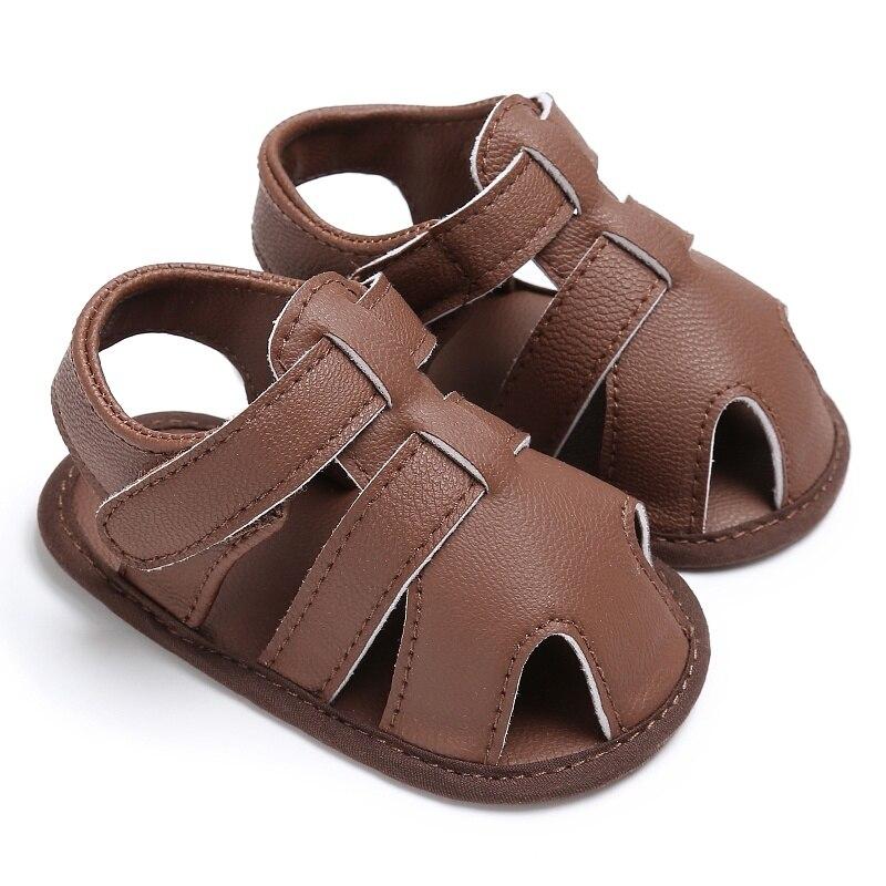Newborn Baby Boys Shoes PU Leather Kids Schoenen First Walkers Soft Soled Beach Crib Infant Prewalker J2
