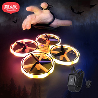 New Four Axis Mini Drone Smart Watch Remote Sensing Gesture Interaction Pneumatic High Altitude Aircraft Rc Toys with Led Lights