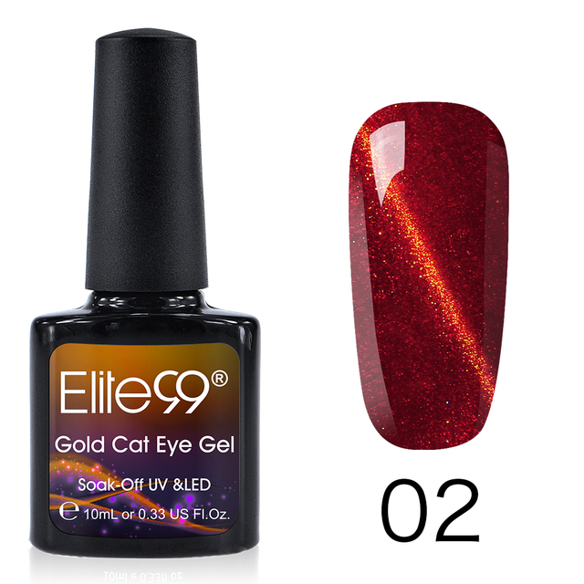 Elite99 6 Farben Gold 3D Magnetische Katzenauge Nagel Gel Polish 10ML Tränken Weg Nail art Gel Lacke Top basis Mantel Stanzen Polnisch