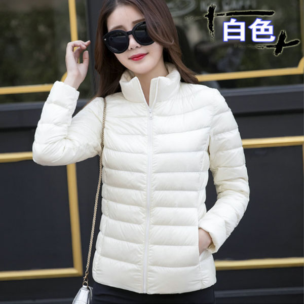 Winter Women black   Down   Jacket White Duck   Down     Coats   Female Ultra Light   Down   Spring   Coat   Slim Long Sleeve Stand Collar Parkas