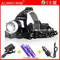 Super bright Rechargeable 18650 10W LED headlamp for fishing&hunting,T6 led head light,Waterproof headlight for camping