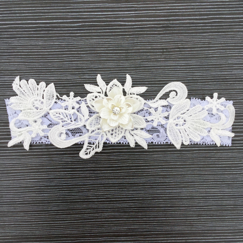 Fashion Bride Garter Lace Flowers Wedding Women's Sexy
