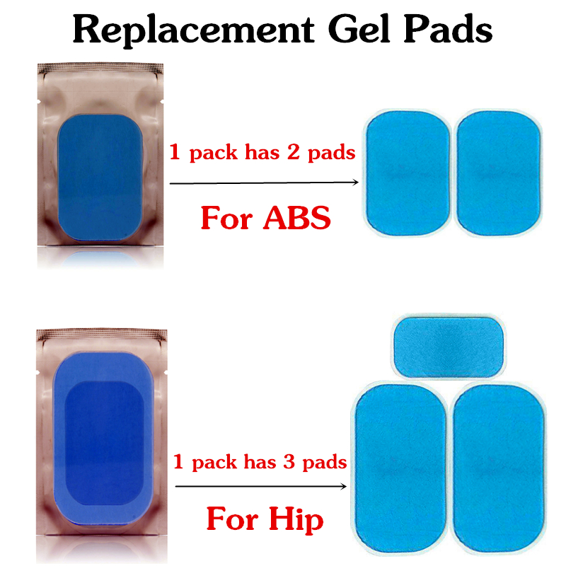 ABS Stimulatoer Hip Trainer Replacement Gel Pads ABS Stimulator Accessories Buttocks Trainer Muscle Stimulator Exerciser Pads