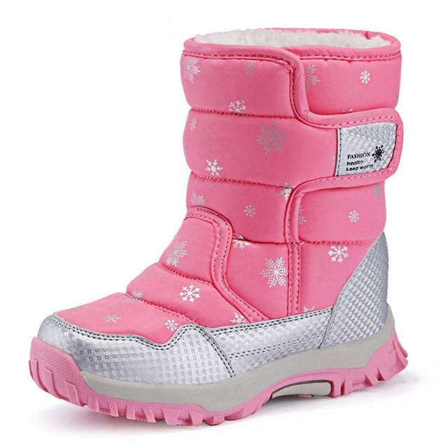 Children Boots 2016 Children Winter Shoes Boys & Girls Boots Waterproof Slip-resistant Keep Warm Kids Snow Boots