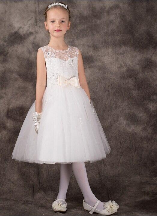 Vestidos blancos cortos de fiesta para ninas