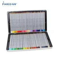 Марко 7100, цветные деревянные карандаши, 72 масляные картонные железные коробки, профессиональные карандаши для рисования, эскизное искусств...