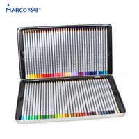 MARCO 7100 Prisma Holz Farbige Bleistifte 72 Öl Karton Eisen box Professionelle Zeichnung bleistifte Skizze Kunst Für Schule Liefert