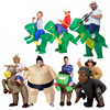 Free Shipping Inflatable Dinosaur Costume Adult Ride Dinosaur Party Costume For Adult