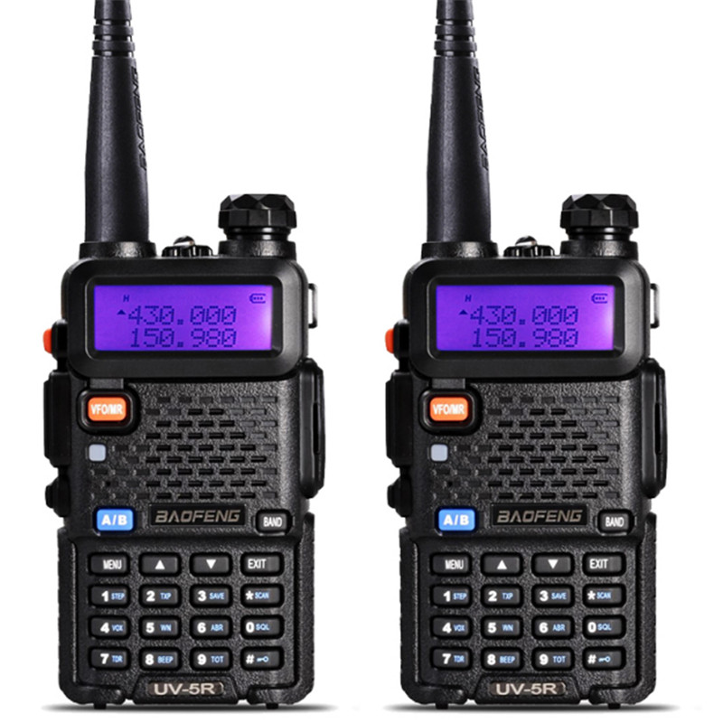 2019 New UV-5R Walkie Talkie Professional CB Radio Station Baofeng UV5R Transceiver 5W VHF UHF Portable UV 5R Hunting Ham Radio