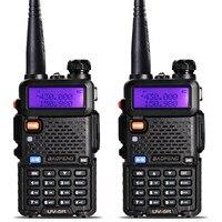 2pcs UV 5R Walkie Talkie Professional CB Radio Station Baofeng UV5R Transceiver 5W VHF UHF Portable UV 5R Hunting Ham Radio