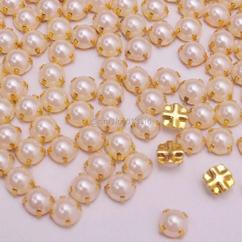 10 mm Ivoire En Verre Perle Perles Rondes 4 mm 12 mm 6 mm 8 mm F14