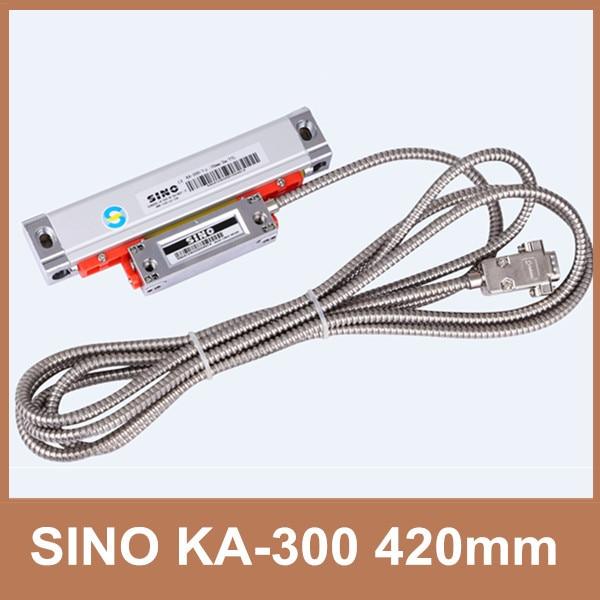 Free Shipping Sino KA-300 Series 5V KA-300 420mm linear scale 0.005mm SINO KA300 420mm displacement sensor for lathe machine цена