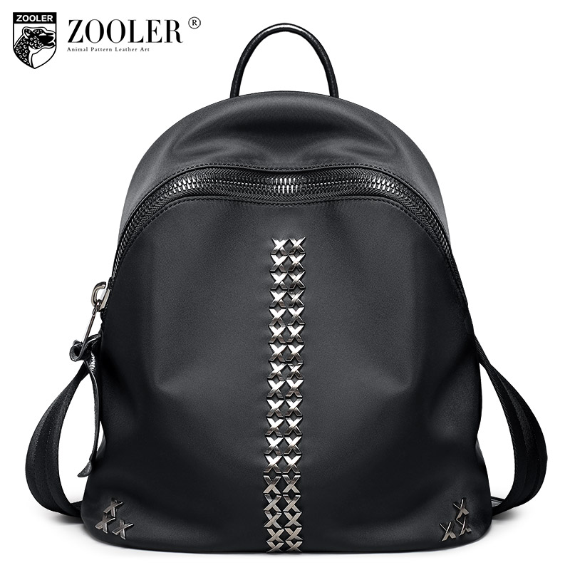 ФОТО 2017 Zooler women backpack Genuine Leather backpacks large cowhide pattern top quality women bag double belts Bolsas#T-8319