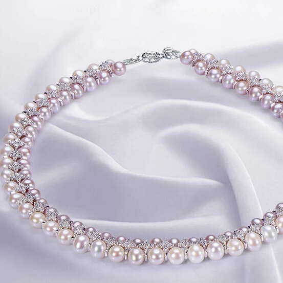ZHBORUINI Mode Halskette Perlenschmuck Natürliche Süßwasserperlen - Edlen Schmuck - Foto 4