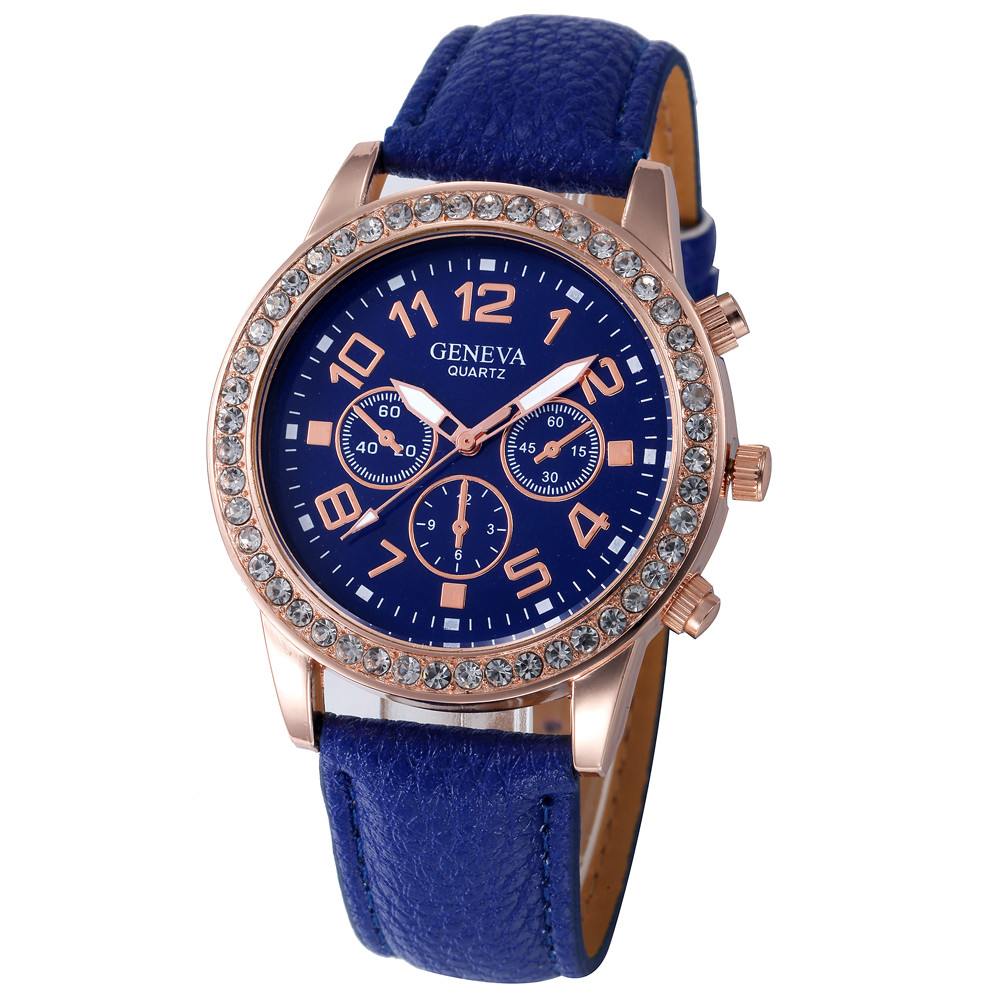 Women Casual Checkers Faux Leather Quartz Analog Wrist Watch women watches bracelet Women's Roman Numerals Faux Leather Gift A40