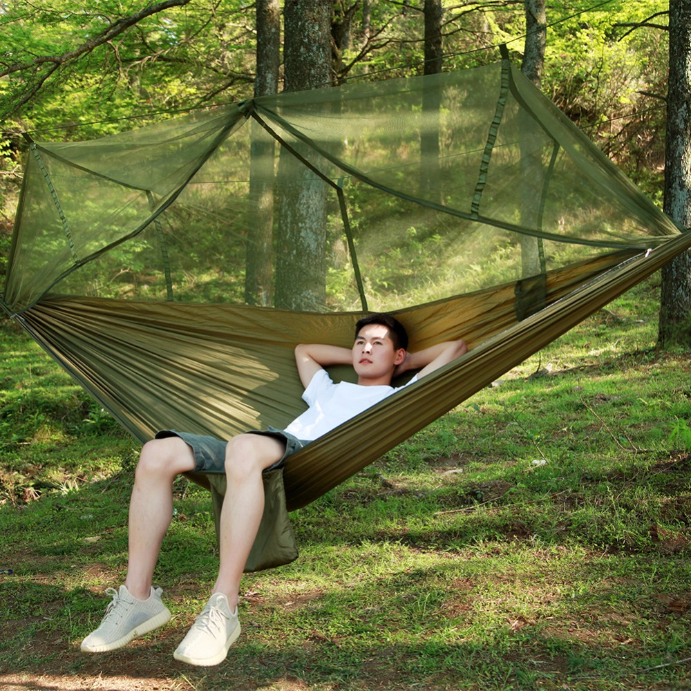 Spring Autumn Outdoor Light Mosquito Net Hammock Parachute Cloth Field Camping Tent Garden Ca0mping Swing Hanging Bed Furniture