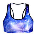 Lace Tank Top Women Workout Bra Vest Gymwear Fitness Clothing Crop-top 3D Galaxy Space Fashion Exercise Tank Tops Healthy Style