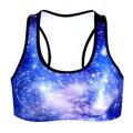 Sin mangas de encaje mujeres clothing workout bra chaleco gymwear gimnasio crop top 3d galaxy espacio moda tank tops ejercicio estilo saludable