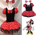 Mickey Mouse Girl Christmas Dress Summer One-piece Dress Children Sundress Kids Cute Minne Performance Ballet Dance Costume