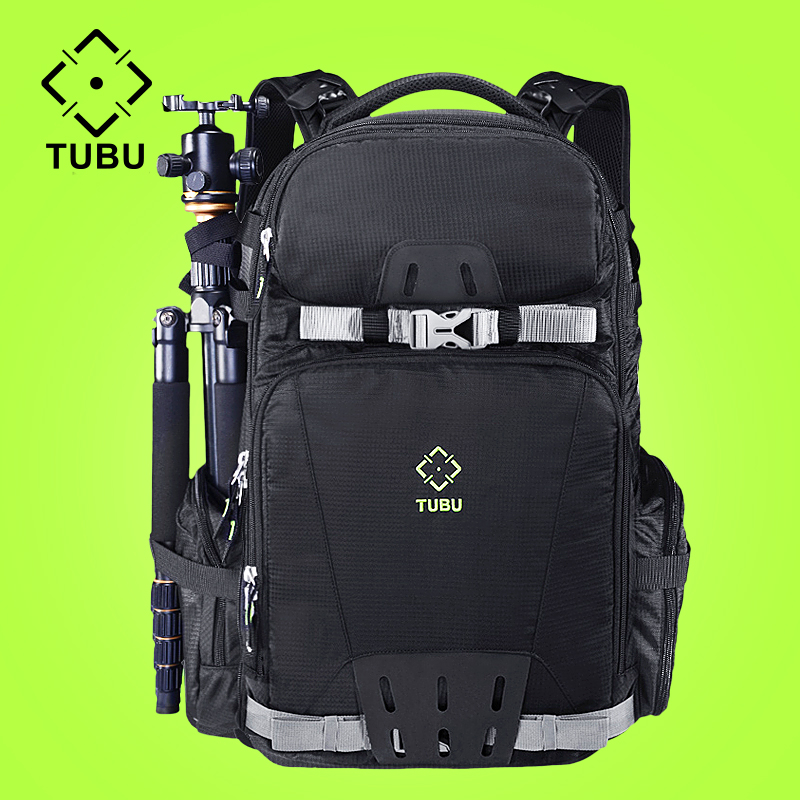TUBU 6081 Dslr Camera Bag Photo Backpack Tripod Sport Bolso Reflex Bags With Rain Cover camera
