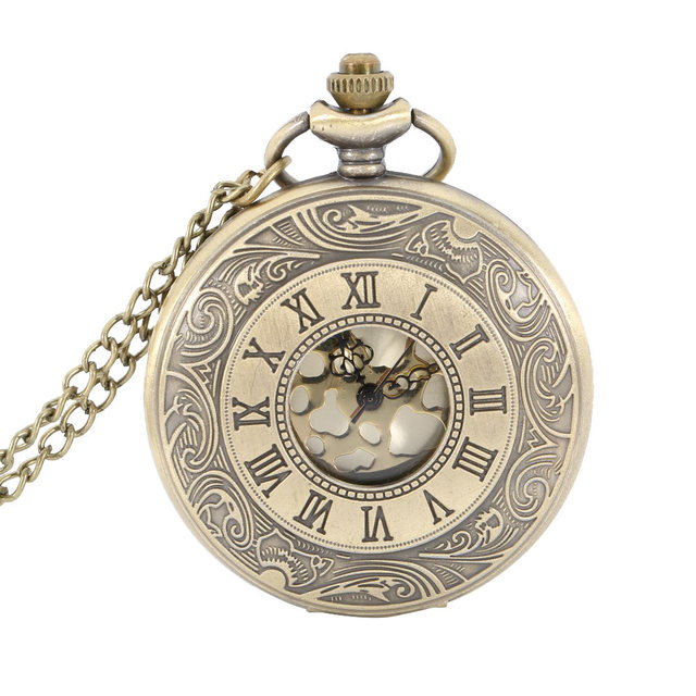 Nurse Pocket Watch Roman Number Quartz Watch Round Case Pendant Necklace Chain C