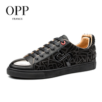 OPP Casual Sequins Men Shoes Leather Loafers New footwear 2018 Summer Mens Shoes Loafers For Men Cow Leather Flats Shoes 1