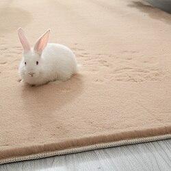 Wysokiej jakości Faux futra królika dywany luksusowe Home Decor dywaniki luksusowe sypialnia gruba długa puszysta mata sztuczny tekstylny dywan do składania w Dywany od Dom i ogród na