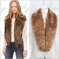 49 pulgadas de Cuero de imitación hierba mapache cuello de piel mantones de la manera, chalecos para hombres y damas encanto, más caliente de la bufanda