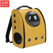 ФОТО space pet backpack with window pet carrier two covers astronaut capsule pet backpack dog cat pet breathable safety carrier