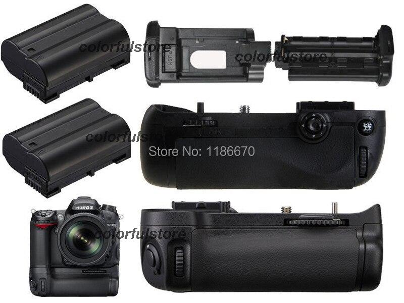 Vertical Power Shutter Battery Handle Hand Grip Pack Holder For Nikon D7100 D7200 DSLR Camera as MB-D15+Remote Control+2 EN-EL15 new arrival battery handle hand grip pack holder vertical power shutter for nikon d750 camera as mb d16 2 x en el15 car charger