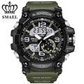 Прохладный Военные Часы Dual Time Кварцевые Часы Мода Открытый Спортивные Часы Мужчины СВЕТОДИОДНЫЙ Цифровой relogios montre homme masculinoWS1617