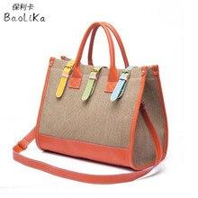Baolika Leinwand Frauen Tasche Casual Frauen Messenger Bags Designer Marke Vintage Mode frauen Umhängetasche Handtaschen