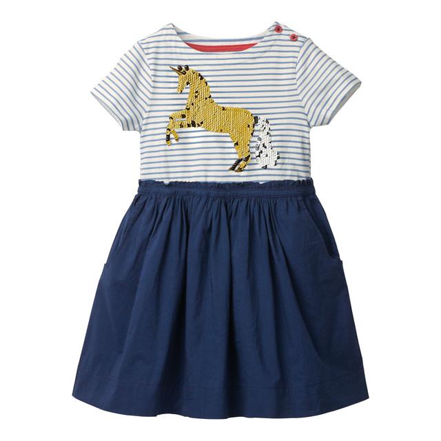 Baby Girls Dress Summer Reversible Sequins Dress Princess Costume Animal Unicorn Party Kids Dresses for Girls Children Clothing