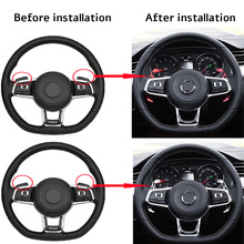 2PCS Metal Car Steering Wheel Paddle Extend Shifter Replacement For VW GOLF GTI R GTD GTE MK7 7 for POLO Scirocco 2014-2018