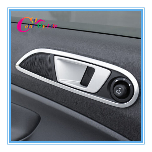 Image 2 - Color My Life Abs Chrome Inner Trim Door Hand Clasping Decorative Ring Sticker for Ford Ecosport Fiesta MK7 Auto Accessories-in Car Stickers from Automobiles & Motorcycles